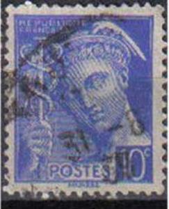 FRANCE, 1938, used 10c,  Mercury, Inscr ?REPUBLIQUE FRANCAISE?.