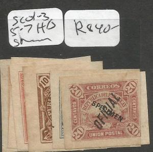 Paraguay SC O1-3, 5-7 H/S Specimen MNH (6cuc)