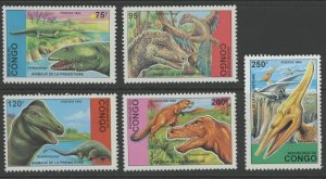 Congo MNH 1043-7 Prehistoric Dinosaurs SCV 12.70