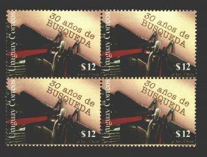 Typewritter press journalism Newspaper Uruguay Sc#1992 MNH block of 4 cv$11