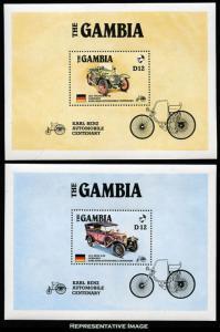Gambia Scott 628-629 Mint never hinged.