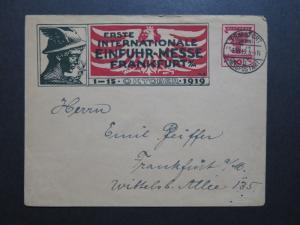 Germany 1919 Frankfurt Import Fair 10pf Stationery / Event Canceled - Z10216