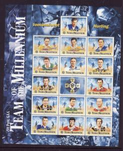 Ireland-Sc#1246-unused NH sheet-Hurling Team of the Millennium-Sports-2000-