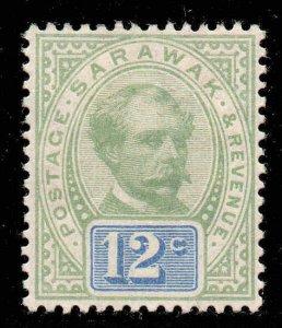 Sarawak 1888 12c green & blue SG 16 mint