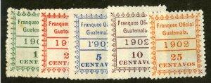 GUATEMALA O1-O5 MH SCV $51.00 BIN $24.50