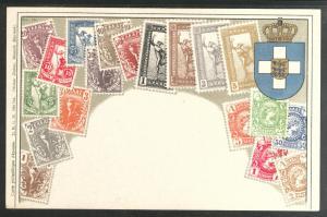 Greece embossed Zieher flat stampcard No.15.