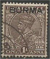 BURMA, 1937 used 1a, King George VI, Scott 4