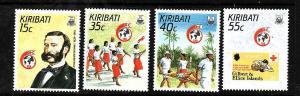 Kiribati-Sc#500-3-Unused NH set-Red Cross-Henri Dunant-1988-