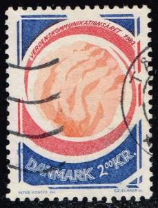 Denmark #732 World Communications Year; Used (0.50)