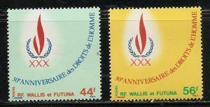 Wallis and Futuna Islands 221-2 1978 Human Rights set MNH