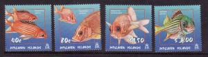 Pitcairn Is.-Sc#583-6-unused NH  set-Fish-Marine Life-Squirrelfish-2003-