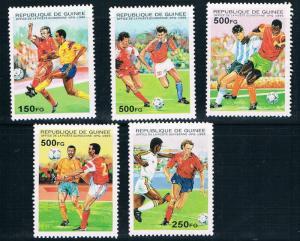 Guinea MNH 1286-90 World Cup Soccer 1998