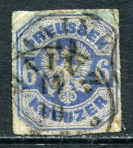 GR Lot 10431 Preußen Prussia 1867 Michel 25b  6 Kreuzer  Freimarken Preußischer