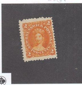 NEW BRUNSWICK # 7b VF-MNG 2cts 1863 QN VICTORIA /DP ORG /CENTS ISSUE-#03 CV $30
