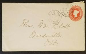 1899 Wardsville Ontario Canada Torronto and North Bay RPO Letter Contents Cover