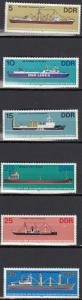 East Germany - 1982 Ships Sc# 2272/2277 - MNH (512N)