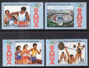 Samoa 629-632 Summer Olympics MNH VF