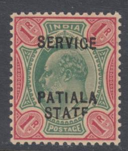 PATIALA STATE O26  MINT  HINGED OG * NO FAULTS EXTRA FINE VARIETY  STATF