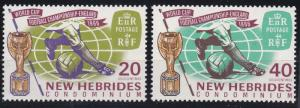 New Hebrides - British Issues 116-117 MNH (1966)