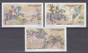 1999 Somalia 742-744 Horses on the hunt 15,00 €