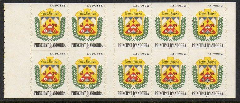 Andorra French 1998 Coat of Arms Ordino Pane VF (491a)