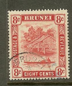 Brunei, Scott #67, 8c Brunei River, Wmk 4, Used