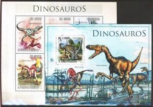 Sao Tomé e Príncipe stamp Dinosaurs mini sheet + block MNH 2010 WS102872