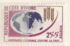 Ivory Coast =  Scott # B16 - MH