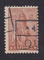 Angola   #254  used  1932  Ceres 70c