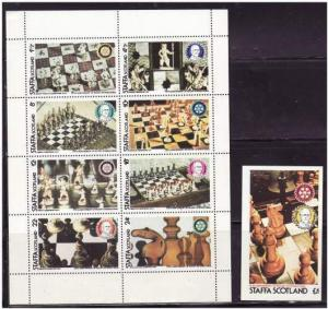 Staffa (Scotland) - Chess - Sheet of 8 Stamps + Souvenir Sheet 19G-003