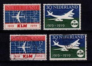 Netherlands 1959 40th Anniversary of KLM Set [Unused / Used]