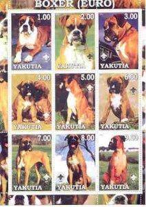 Sakha (Yakutia) Republic 2000 Dogs (European Boxer) perf ...