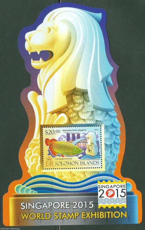 SOLOMON ISLANDS 2015 SINGAPORE WORLD STAMP EXHIBITION SOUVENIR SHEET