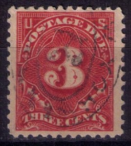 US Scott #J63A Used DEEP CLARET 3c Very Fine