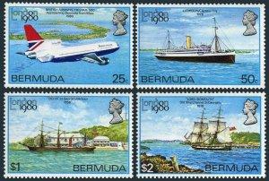 Bermuda 393-396,MNH.Michel 382-385. LONDON-1980:Plane,Ships.
