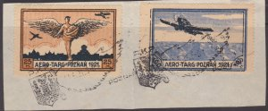 Poland 1921 local Aero Targ issues on paper