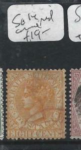 MALAYA STRAITS SETTLEMENTS   (P1605B)  QV  8C  SG 14   RED CANCEL   VFU