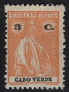 Cabo Verde Scott 180 MH* Ceres stamp