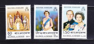 Bangladesh 123-125 Set MNH Elizabeth II Silver Jubilee (B)