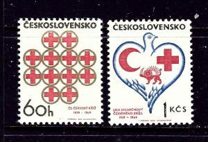 Czechoslovakia 1601-02 MNH 1969 Red Cross
