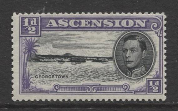 ASCENSION- Scott 40 - Georgetown -1944 - MNH - Single 1/2d Stamp