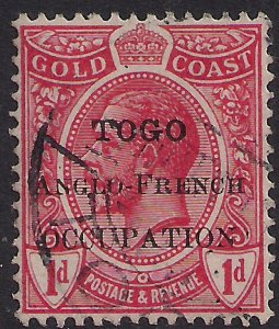 Toga 1915 KGV 1d Red Anglo French Ovpt SG H35  ( J919 )
