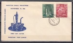 Pakistan, Scott cat. 167-168. Sport Equipment on a value. First day cover.