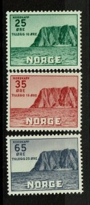 Norway SC# B59-B61, Mint Never Hinged, B60 tone or ink dot - S9413