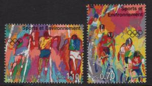 United Nations Geneva  #289-290  MNH  1996 sports cycling  running