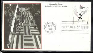 U. S. #3202 Alexander Calder Mystic cachet U/A