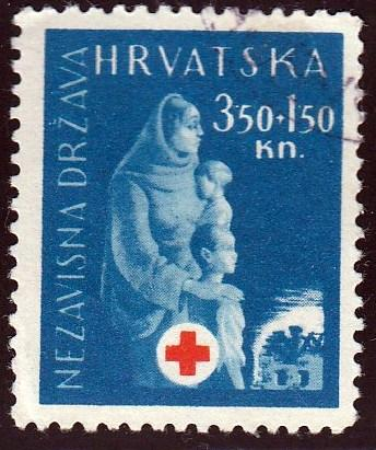 Croatia #B44 Mother and Children, used. HM