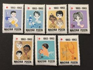 Hungary 1963 #1532-8, International Red Cross, MNH.