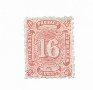 Liberia #23 Used - CAT VALUE $5.00