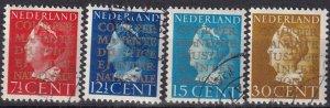 Netherlands #O16-19  F-VF Used  CV $35.00  (Z1307)